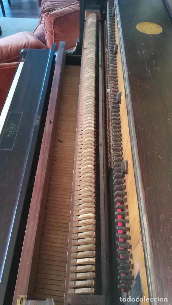 Instrumentos musicales: PIANO PARED ERARD EPOCA NAPOLEON III MEDALLA HONOR EXPOSICION PARIS - Foto 25 - 210191395