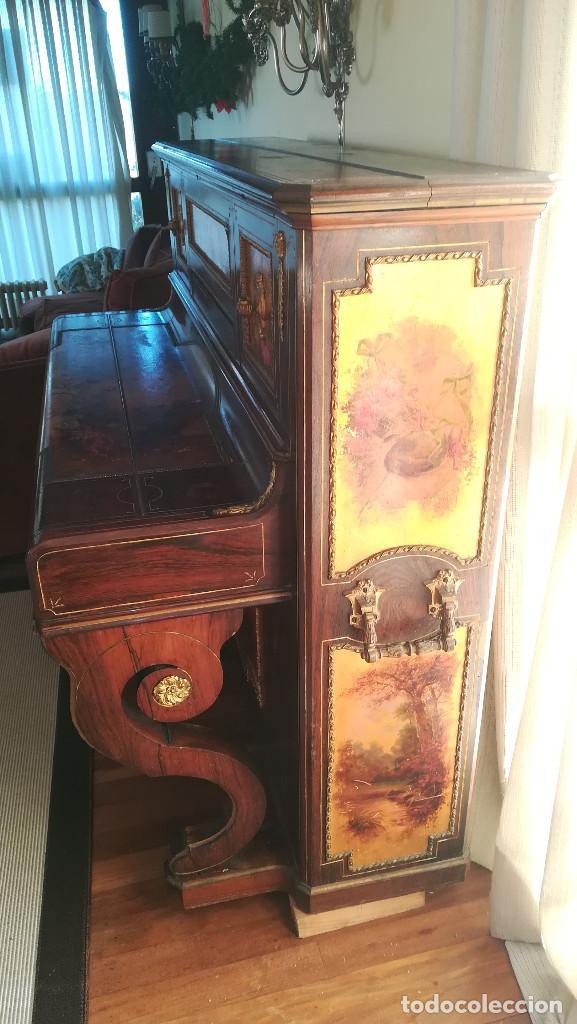 Instrumentos musicales: PIANO PARED ERARD EPOCA NAPOLEON III MEDALLA HONOR EXPOSICION PARIS - Foto 6 - 210191395