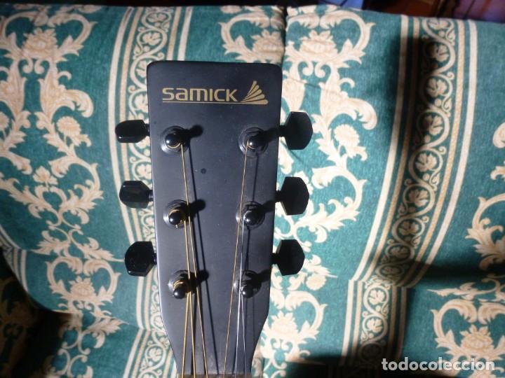 Instrumentos musicales: Guitarra acústica samick american series con funda - Foto 3 - 210220200