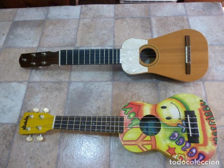 UKELELE KALA UKADELIK Y TIMPLE CANARIO CON FUNDAS. (Música - Instrumentos Musicales - Guitarras Antiguas)