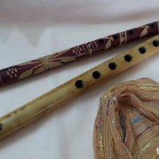 Instrumentos musicales: FLAUTAS. PAREJA EN MADERA. ORIGEN COLOMBIANO.. Lote 210246548
