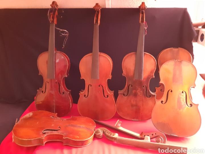LOTE 6 VIOLIN PARA RESTAURAR O PARA PIECES .MIDEN 62CM X 20CM (Música - Instrumentos Musicales - Cuerda Antiguos)