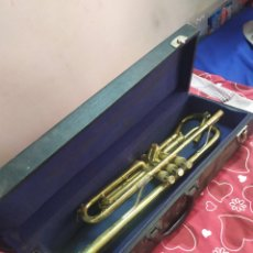 Instrumentos musicales: ANTIGUA TROMPETA EN MALETÍN SIGLO XIX. Lote 210398040