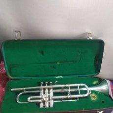 Instrumentos musicales: ANTIGUA TROMPETA CON MALETÍN SIGLO XIX. Lote 210398073