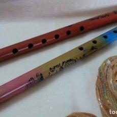 Instrumentos musicales: FLAUTAS. PAREJA EN MADERA. ORIGEN COLOMBIANO.. Lote 210445767