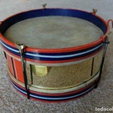 Instrumentos musicales: PRECIOSO TAMBOR INGLES ANTIGUO, PLATILLOS Y TRIANGULOS EN PERFECTO ESTADO. Lote 210623188