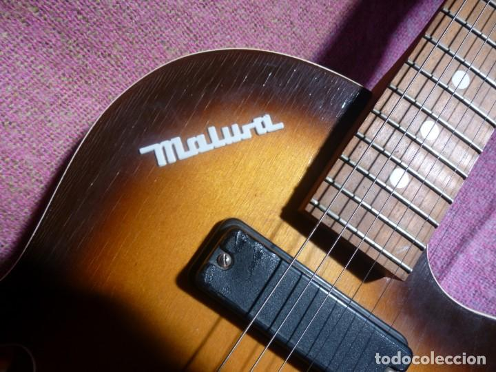 Instrumentos musicales: Guitarra jazz eléctrica Defil - Foto 5 - 210640584