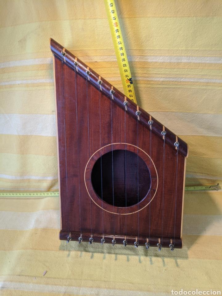 CAJA ARPA DE CAOBA (Música - Instrumentos Musicales - Cuerda Antiguos)