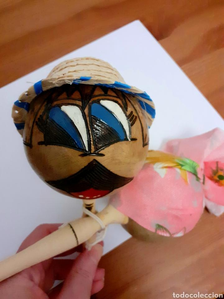 Instrumentos musicales: Originales Maracas de Cuba pintadas y hechas a mano como muñecos con sombreros cubanos, Vintage. - Foto 3 - 211594946