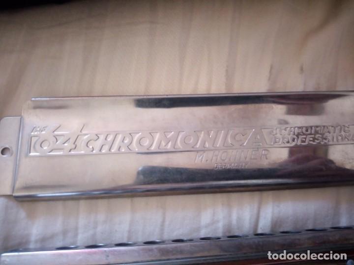 Instrumentos musicales: armonica the 64 chromonica 4 chromatic octaves professional model m.hohner germany,con estuche origi - Foto 9 - 211725571