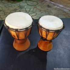 Instrumentos musicales: TIMBALES REALIZADO EN MADERA. Lote 212053761
