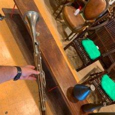 Instruments Musicaux: CLARINETE O FLAUTA TRAVESERA ANTIGUA INSTRUMENTO MUSICAL, REALIZADO EN MADERA. Lote 212363225