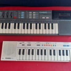 Instrumentos Musicais: 2 PIANOS CASIO PT-87 COLOR GRIS NO FUNCIONA Y CASIO PT -1 BLANCO FUNCIONA BIEN PERO NO TIENE TAPA .. Lote 212908865