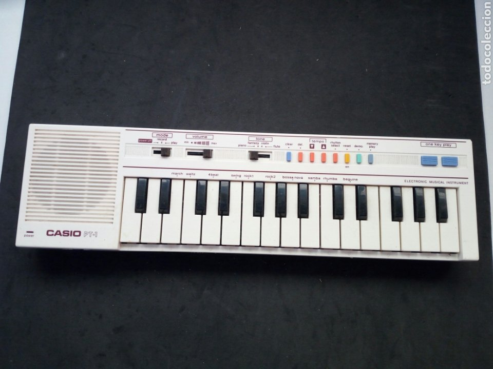 ANTIGUO TECLADO CASIO. PT-1. FUNCIONANDO PERFECTAMENTE (Música - Instrumentos Musicales - Teclados Eléctricos y Digitales)