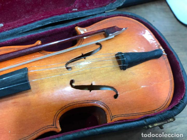 Instrumentos musicales: INSTRUMENTO CONTRABAJO O VIOLIN EN MINIATURA CON ESTUCHE Y CAJA MUSICA - MEDIDA 26 CM - Foto 8 - 213644205