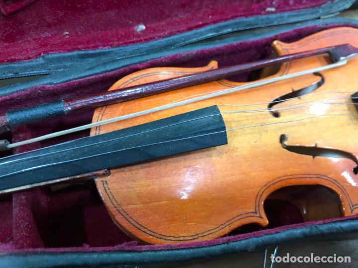 Instrumentos musicales: INSTRUMENTO CONTRABAJO O VIOLIN EN MINIATURA CON ESTUCHE Y CAJA MUSICA - MEDIDA 26 CM - Foto 9 - 213644205