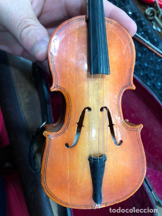 Instrumentos musicales: INSTRUMENTO CONTRABAJO O VIOLIN EN MINIATURA CON ESTUCHE Y CAJA MUSICA - MEDIDA 26 CM - Foto 14 - 213644205