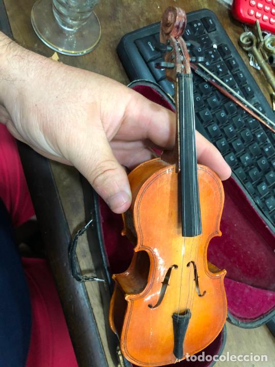 Instrumentos musicales: INSTRUMENTO CONTRABAJO O VIOLIN EN MINIATURA CON ESTUCHE Y CAJA MUSICA - MEDIDA 26 CM - Foto 15 - 213644205
