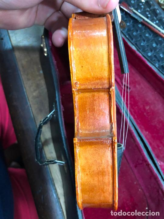 Instrumentos musicales: INSTRUMENTO CONTRABAJO O VIOLIN EN MINIATURA CON ESTUCHE Y CAJA MUSICA - MEDIDA 26 CM - Foto 16 - 213644205