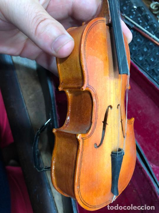 Instrumentos musicales: INSTRUMENTO CONTRABAJO O VIOLIN EN MINIATURA CON ESTUCHE Y CAJA MUSICA - MEDIDA 26 CM - Foto 17 - 213644205