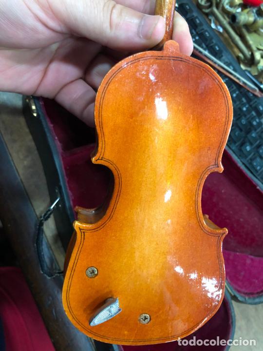 Instrumentos musicales: INSTRUMENTO CONTRABAJO O VIOLIN EN MINIATURA CON ESTUCHE Y CAJA MUSICA - MEDIDA 26 CM - Foto 20 - 213644205