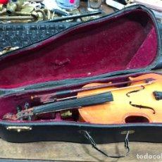 Instrumentos musicales: INSTRUMENTO CONTRABAJO O VIOLIN EN MINIATURA CON ESTUCHE Y CAJA MUSICA - MEDIDA 26 CM. Lote 213644205