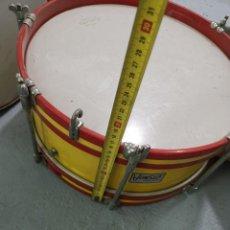 Instrumentos musicales: TAMBOR BATIDOR HONSUY BANDERA ESPAÑA BATIDOR 37 X 17. Lote 213907898