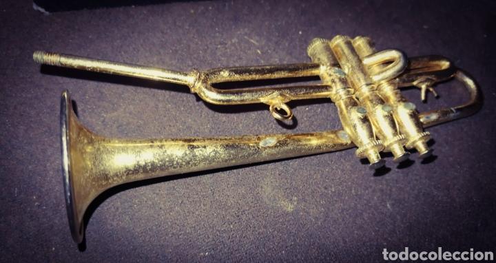 Instrumentos musicales: TROMPETA MINIATURA CON CAJA. - Foto 5 - 214146645