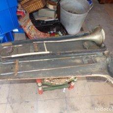 Instrumentos musicales: ANTIGUO TROMBON DE VARAS MARCADO LERIDA. Lote 214332958