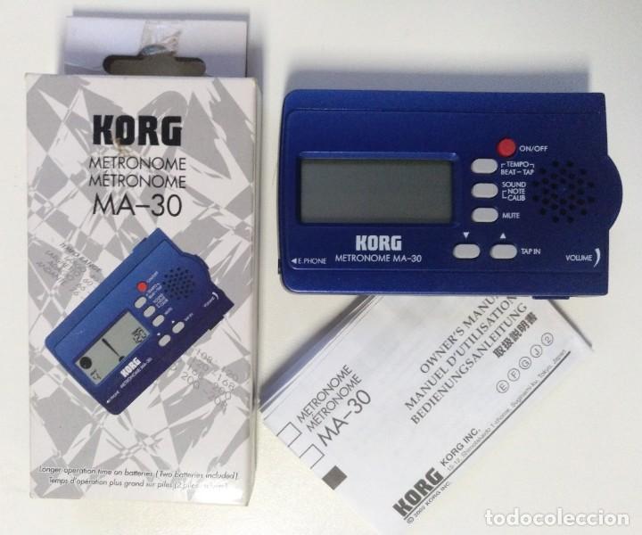 METRONOMO DIGITAL KORG MA-30 ( BATERÍA BAJO GUITARRA TECLADO PERCUSION DJ VIENTOS AFINADOR) (Música - Instrumentos Musicales - Accesorios)