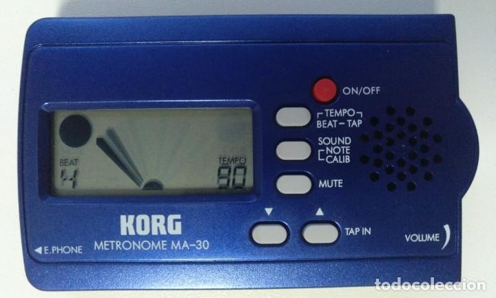Instrumentos musicales: METRONOMO DIGITAL KORG MA-30 ( BATERÍA BAJO GUITARRA TECLADO PERCUSION DJ VIENTOS AFINADOR) - Foto 2 - 214451637