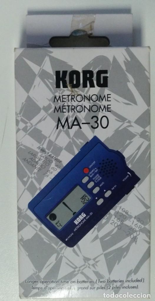 Instrumentos musicales: METRONOMO DIGITAL KORG MA-30 ( BATERÍA BAJO GUITARRA TECLADO PERCUSION DJ VIENTOS AFINADOR) - Foto 3 - 214451637