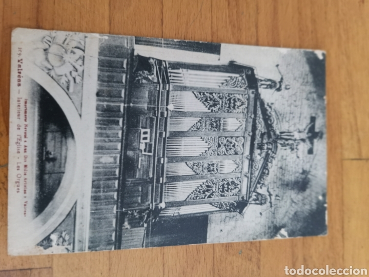 Instrumentos musicales: Postal de interior Iglesia Valreas, Órgano. - Foto 5 - 214887672