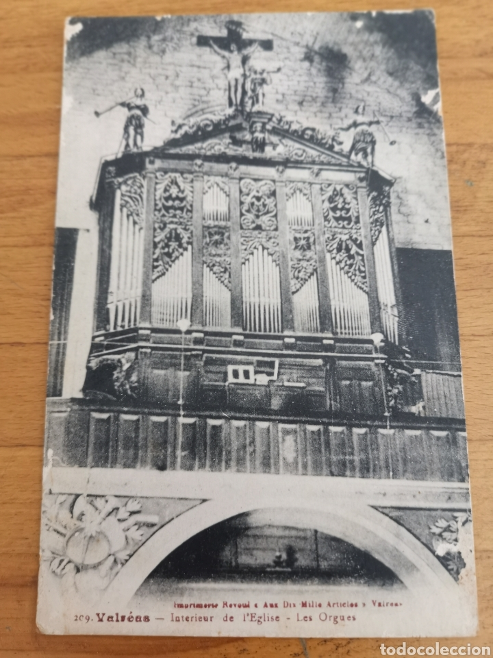POSTAL DE INTERIOR IGLESIA VALREAS, ÓRGANO. (Música - Instrumentos Musicales - Pianos Antiguos)
