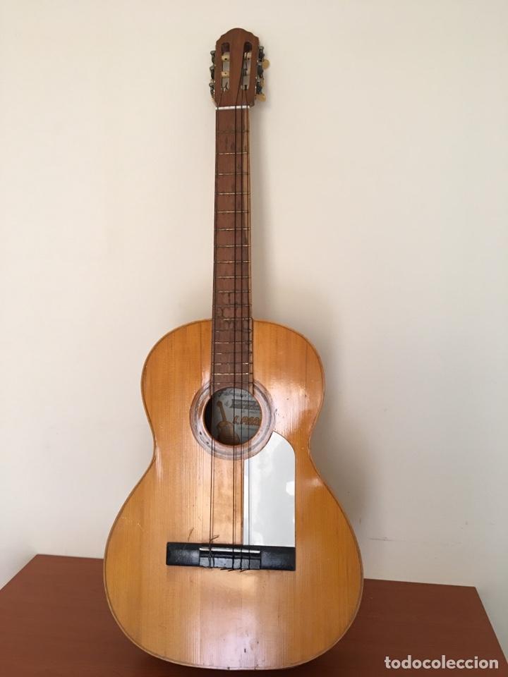 Instrumentos musicales: ANTIGUA GUITARRA ESPAÑOLA - L. PARODI - CADIZ - ESPAÑA - Foto 3 - 215371427