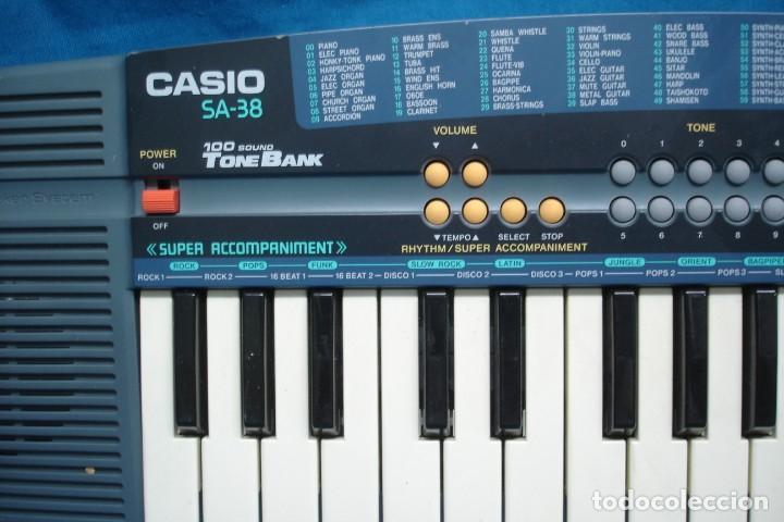 Instrumentos musicales: ORGANO CASIO SA - 38A - 100 SONIDOS - SUPER ACOMPAÑAMIENTOS - Foto 4 - 215531073
