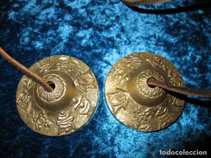 Instrumentos musicales: Platillos platos crótalos címbalos tibetanos Tíbet bronce - Foto 3 - 216454091