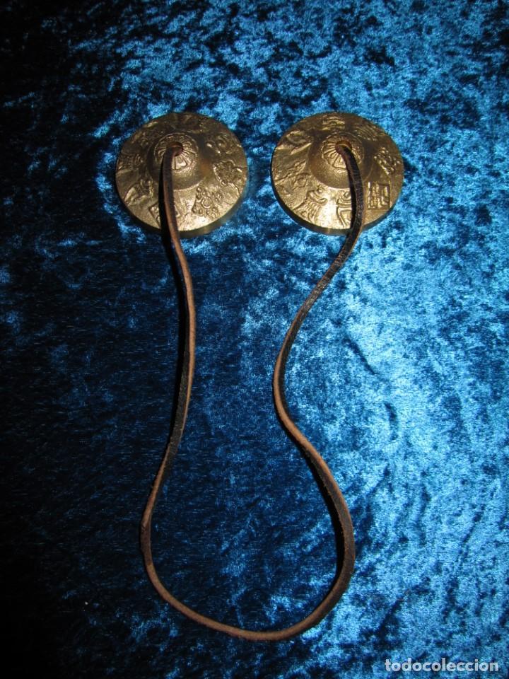 Instrumentos musicales: Platillos platos crótalos címbalos tibetanos Tíbet bronce - Foto 4 - 216454091