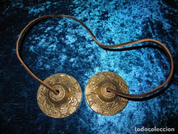 Instrumentos musicales: Platillos platos crótalos címbalos tibetanos Tíbet bronce - Foto 5 - 216454091