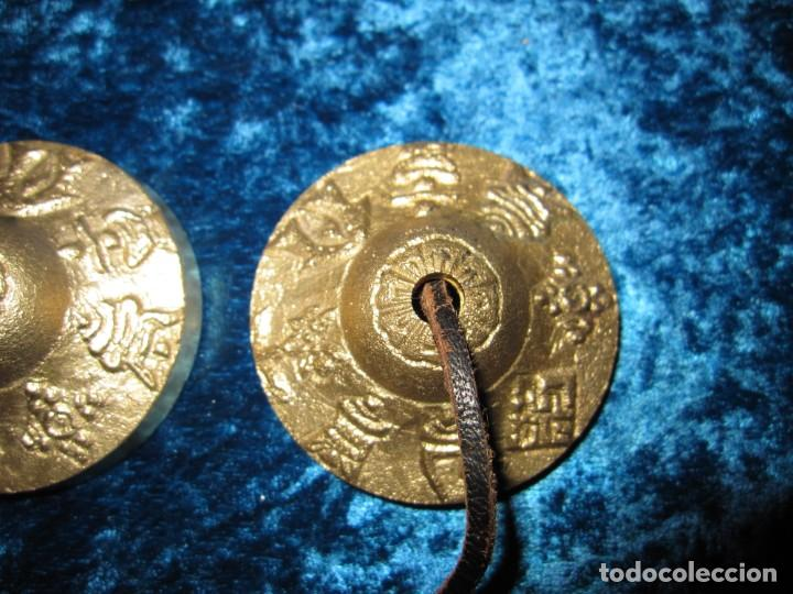 Instrumentos musicales: Platillos platos crótalos címbalos tibetanos Tíbet bronce - Foto 7 - 216454091