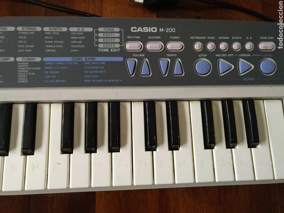 Instrumentos musicales: Órgano Teclado CASIO M 200 FUNCIONANDO - Foto 3 - 216784898