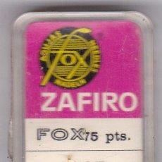 Instrumentos musicales: AGUJA TOCADISCO ZAFIRO FOX MODELO 41 ZST. Lote 217029693