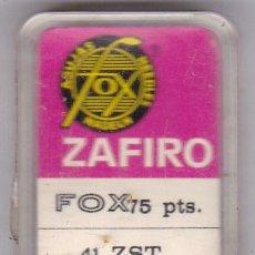Instrumentos musicales: AGUJA TOCADISCO ZAFIRO FOX MODELO 41 ZST. Lote 217029897