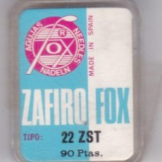 Instrumentos musicales: AGUJA TOCADISCO ZAFIRO FOX MODELO 22 ZST. Lote 217031121
