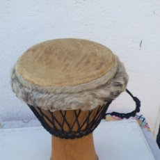 Instrumentos musicales: TAMBOR AFRICANO DE MADERA. Lote 217882715