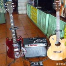 Instrumentos musicales: GUITARRA SG JAPONESA,AMPLI 40W Y PEDAL DE EFECTOS ZOOM. Lote 217929367