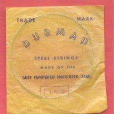 Instrumentos musicales: SOBRE CON CUERDA Nº 1 LAUD DURMAN , VER FOTOS. Lote 218266195