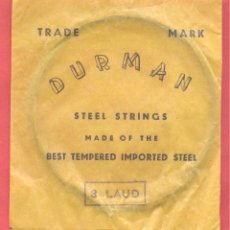 Instrumentos musicales: SOBRE CON CUERDA Nº 3 LAUD DURMAN , VER FOTOS. Lote 218266285