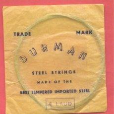 Instrumentos musicales: SOBRE CON CUERDA Nº 4 LAUD DURMAN , VER FOTOS. Lote 218266332