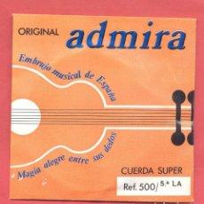Instrumentos musicales: CUERDA Nº 5 LA ADMIRA EN SU SOBRE ORIGINAL, VER FOTOS. Lote 218269276